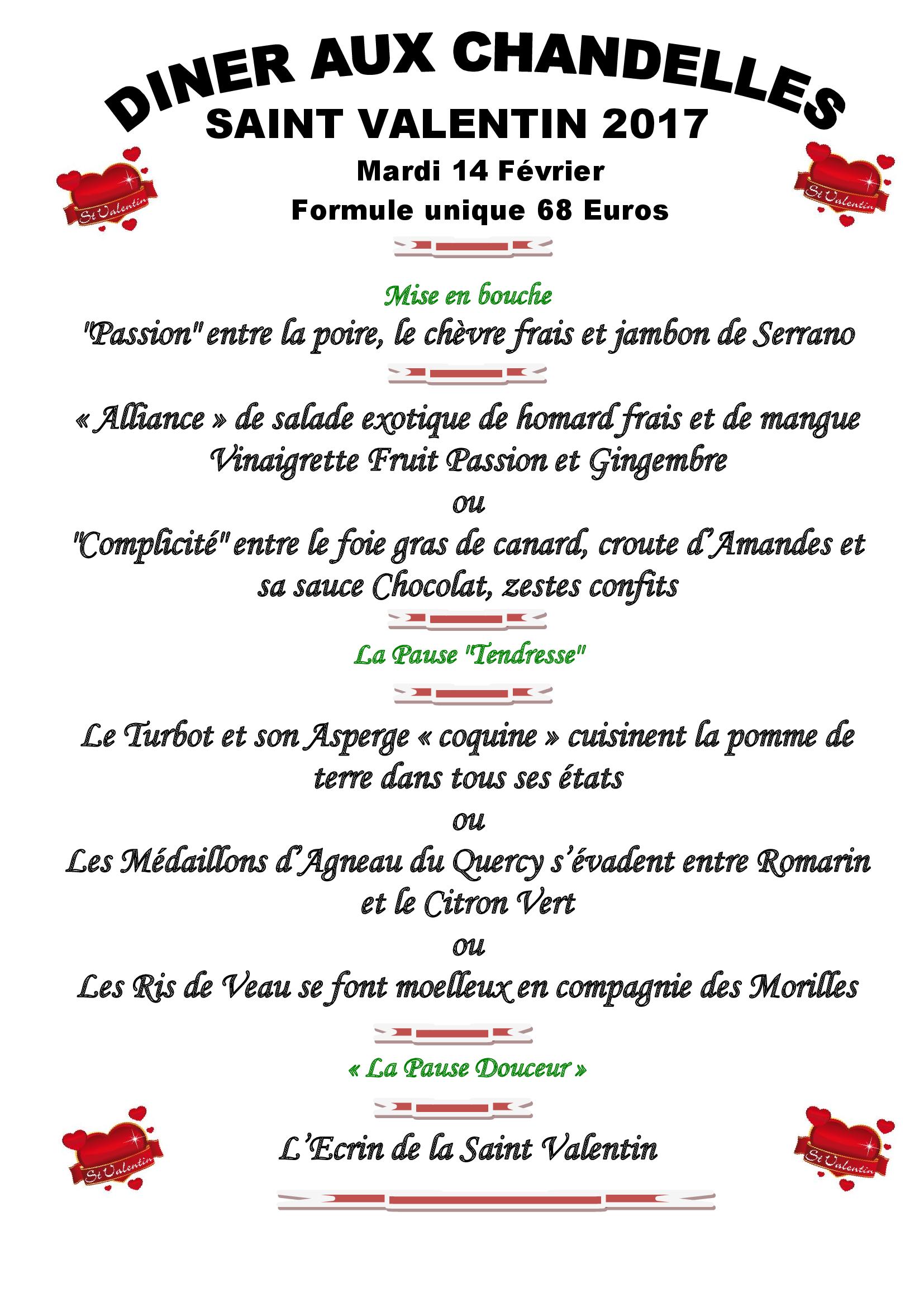 Restaurant du loup restaurant gastronomique et traditionnel - La saint valentin 2017 ...